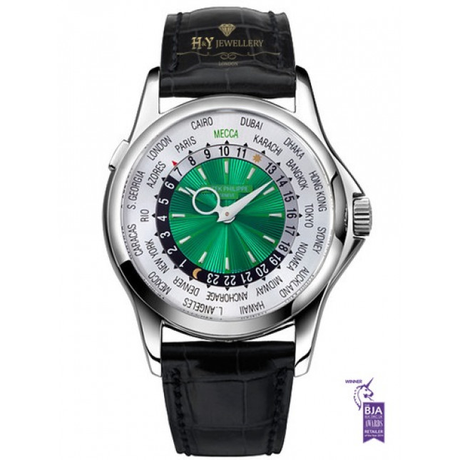 Patek Philippe World Time Mecca Platinum Limited Edition of 150 pieces -  ref 5130P-015