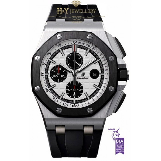 Audemars piguet royal oak offshore chronograph steel and ceramic ref 26400so oo for Royal oak offshore ceramic
