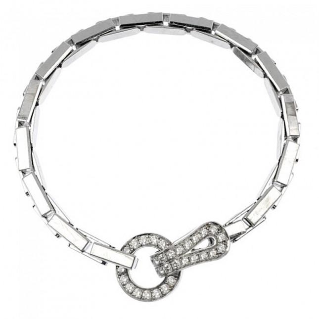 Cartier Agrafe Bracelet With Brilliant Cut Diamonds - ref N6025502