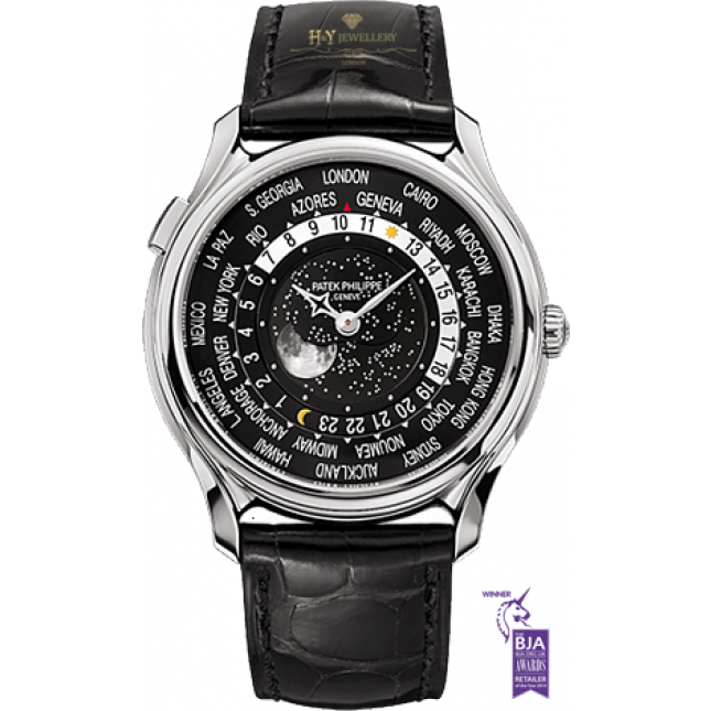 Patek Philippe World time Moon Phase 175th Anniversary White Gold - ref 5575G-001