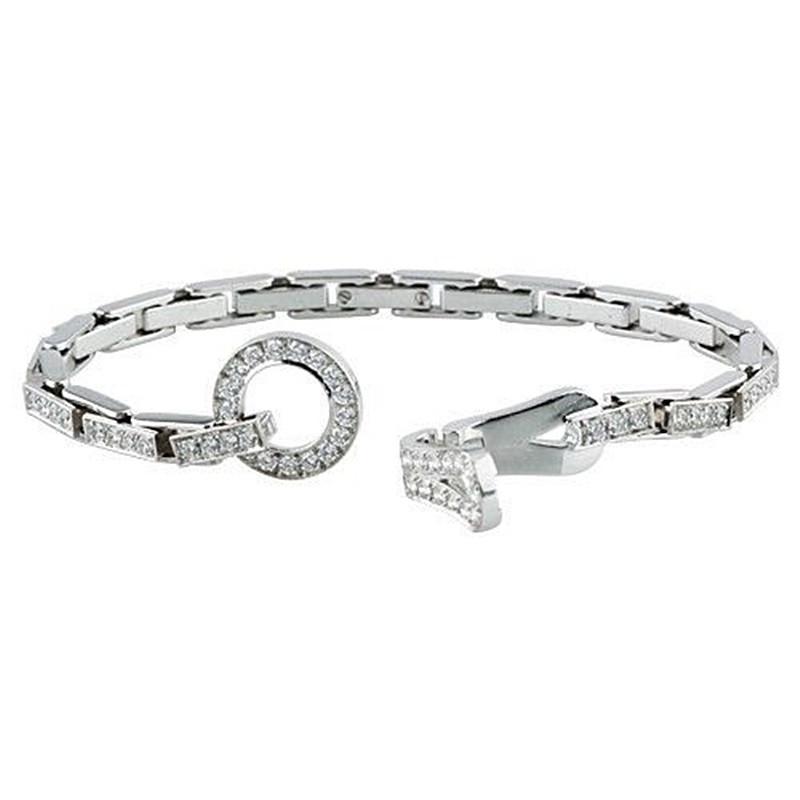 cartier agrafe bracelet with brilliant cut diamonds ref