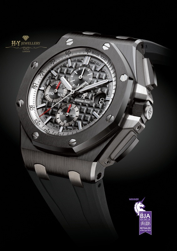 Audemars piguet royal oak offshore chronograph ceramic ref 26405ce oo for Royal oak offshore ceramic