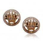 Rolex Design Cufflinks -  Rose Gold DesignWith Brilliant Cut Diamonds