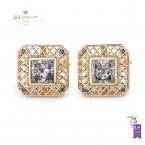 Blue Diamond Cuff links - 4.54 ct