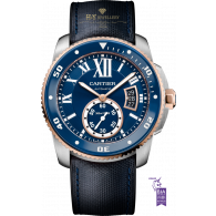 Calibre De Cartier Diver Steel and Rose gold - ref W2CA0008