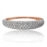 Rose Gold and White Diamond Bangle