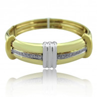 Gold Bangle And Diamonds