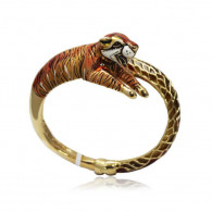 Yellow Gold Tiger Bangle
