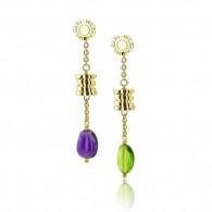 Classic Bvlgari Semi Precious Cabochon Earrings