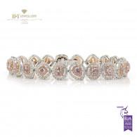 Fancy Pink Diamond Bracelet - 5.44 ct