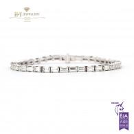 Emerald Cut Diamond Bracelet - 5.98 - G-H - VS1
