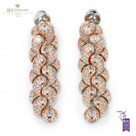 Rose Gold Pink Diamond Earrings - 2.36 ct