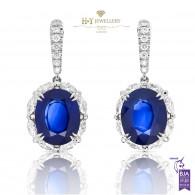 Natural Sri-Lanka Sapphire Drop Earrings - 28.31 ct