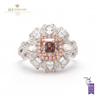 Radiant Cut Fancy Pink Diamond Ring - 1.17ct - SI1