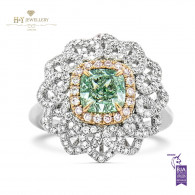 Fancy Yellowish Green Diamond Ring - 1.94 ct