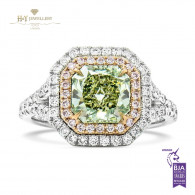 Fancy Yellow Green Diamond Ring - 2.38 ct