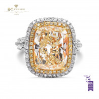 Yellow Diamond Ring - 6.88 ct