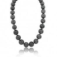 Tahitian South Sea Pearl Necklace With Diamonds