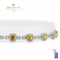 Fancy Yellow Bracelet - 6.00 ct