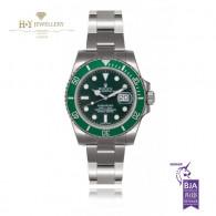 Rolex Green Submariner Steel - ref 116610LV