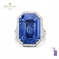 Large Burma Sapphire Ring - 28.95 ct