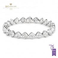 White Gold Tennis Bracelet - 23.15 Ct - D-F - VS