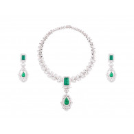 Aphrodite Emerald and Diamond Set