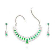 Venus Emerald and Diamond Set