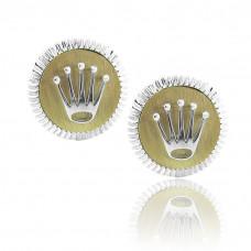 Rolex Design Matt Gold Finish Cufflinks