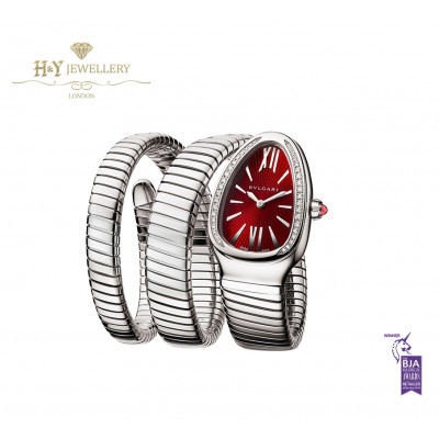 Serpenti Tubogas Red Lacquered Dial Steel - ref 102682