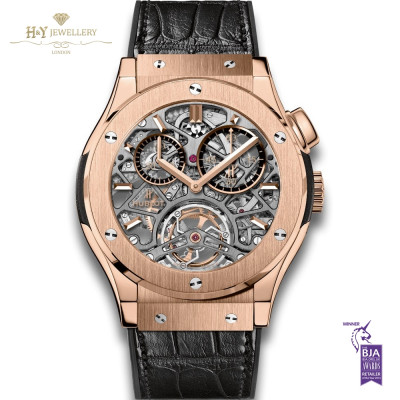 Hublot Classic Fusion Tourbillon Skeleton King Rose Gold - ref 506.OX.0180.LR