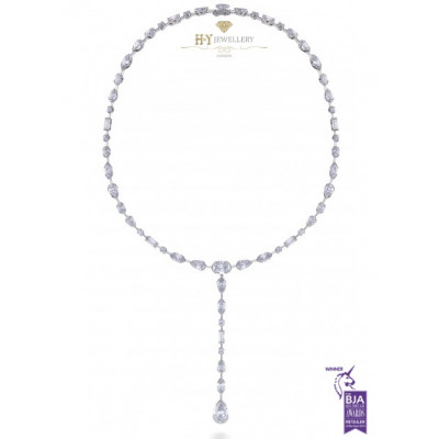 De Beers Swan Lake Full Cut Necklace - 24.81 ct