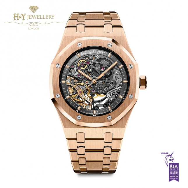 Audemars Piguet Royal Oak Double Balance Wheel Openwork Rose gold - ref 15407OR.OO.1220OR.01