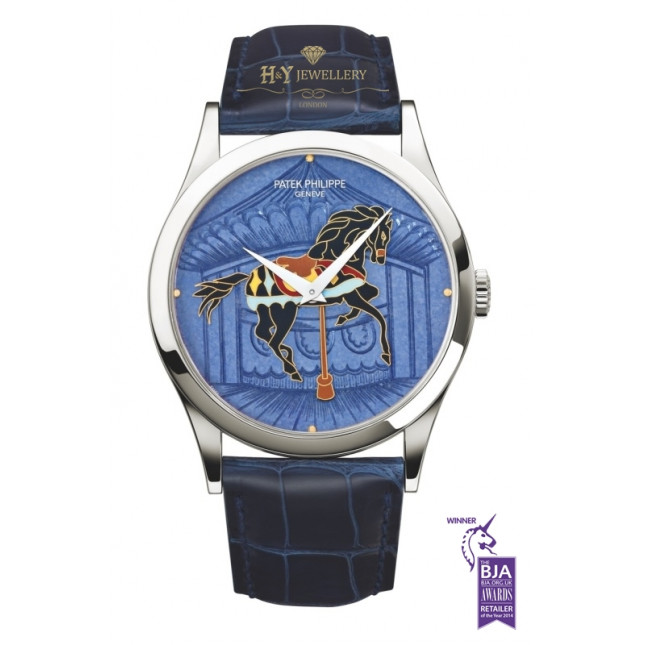 Patek Philippe Calatrava Cheval Noir Carousel Platinum Limited edition of 20 pieces - ref 5077P-064