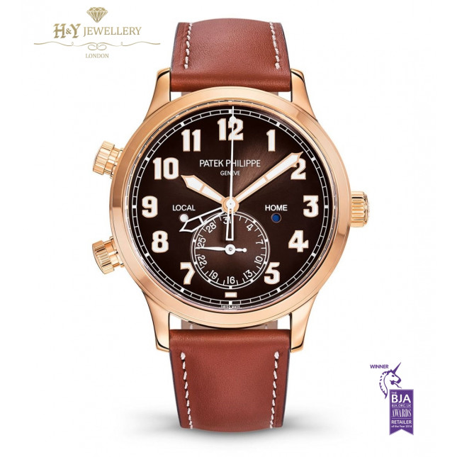 Patek Philippe Complications Calatrava Pilot Time Rose Gold - ref 5524R-001