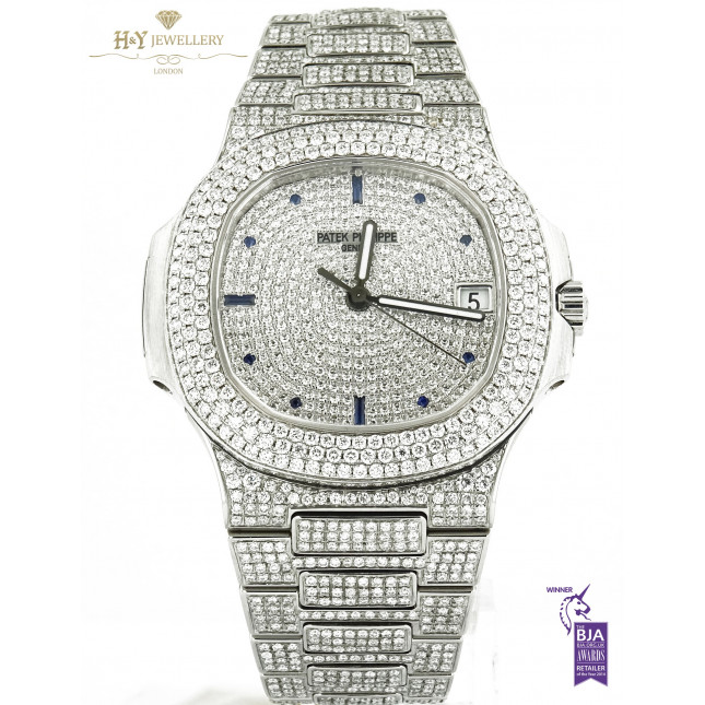 Patek Philippe Nautilus Steel - ref 5711/1A-011 with After Set Diamonds