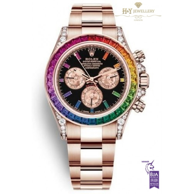 Rolex Daytona Rainbow Rose gold , ref 116595RBOW