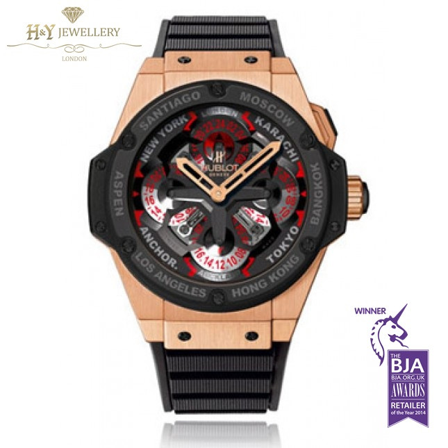 Hublot King Power Unico GMT Rose Gold And Ceramic - ref 771.OM.1170.RX PriceINC VAT