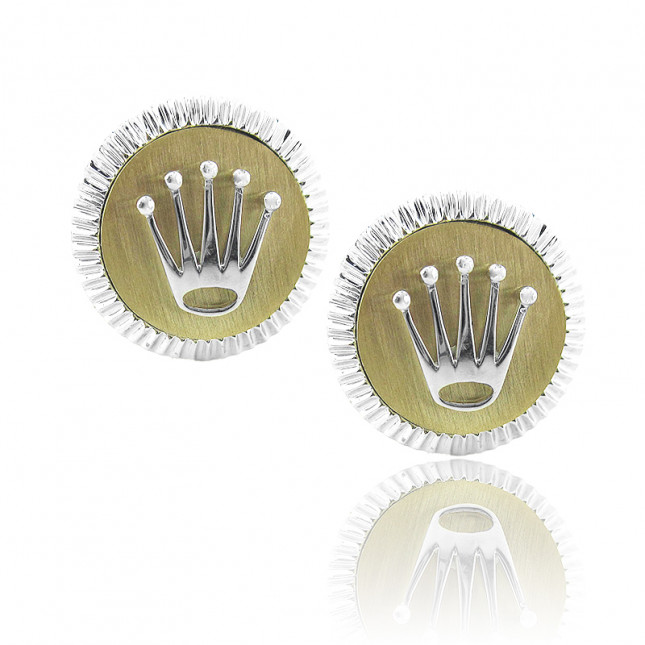 Rolex Design Matt Gold Finish Cufflinks