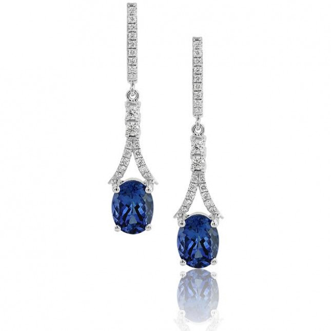 x dp in sterling oval tw silver com earrings genuine stud amazon tanzanite