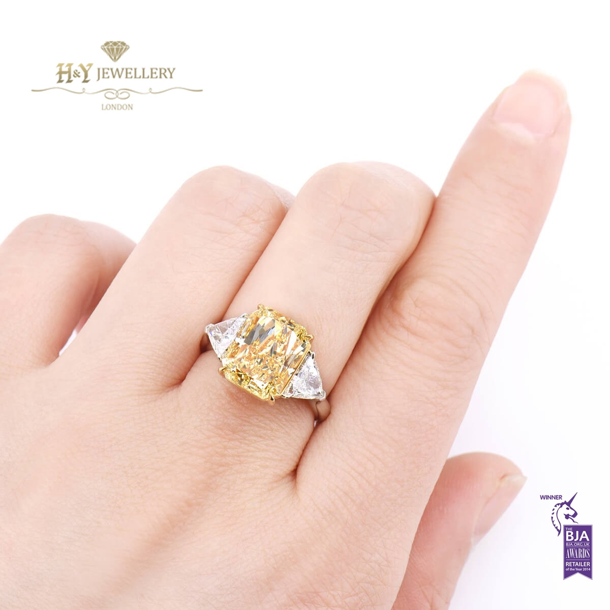 Fancy Yellow Diamond Ring - 6.69 ct