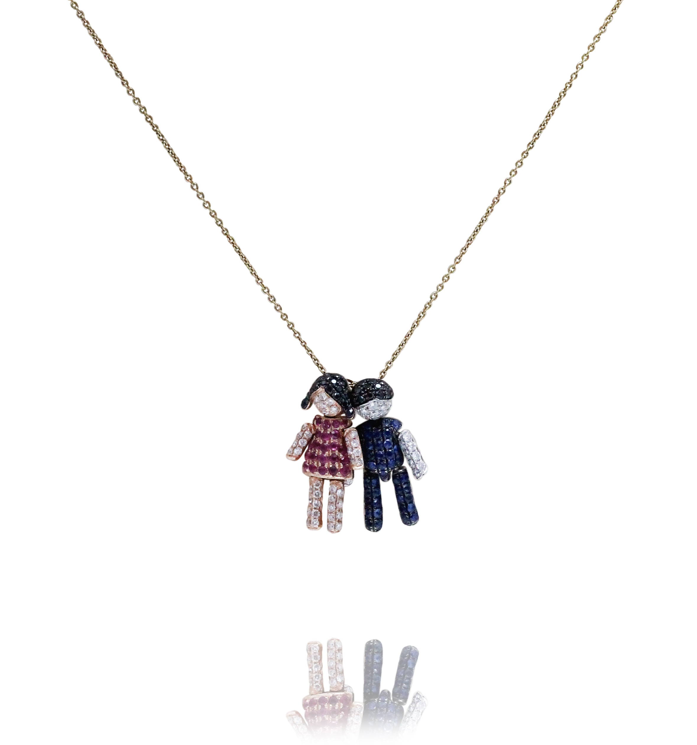 baby steel stroili intl en boy necklace crystals with