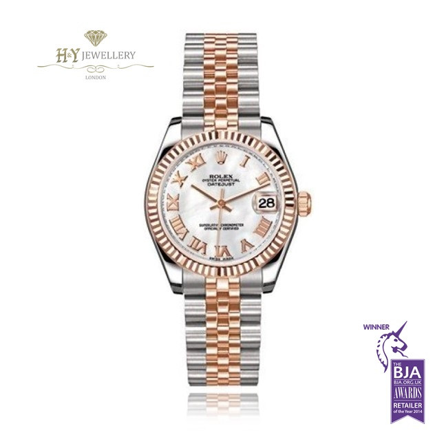Rolex Date Just Rose Gold And Steel Ref 178271