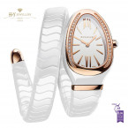 Bvlgari Serpenti Spiga Ladies Ceramic and Rose Gold - ref 102613
