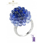 Chopard White Gold Briolette Sapphire Ring - 47.81 ct