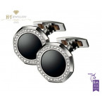 Audemars Piguet White Gold Cufflinks with Diamonds and Black Onyx - ref BM0733.BCU.US.Z015