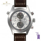 IWC Pilot Spitfire Double Chronograph Steel - ref IW371802