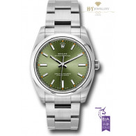 Rolex Oyster Perpetual Steel Olive Dial - ref 114200