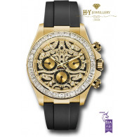 Rolex Daytona '' Eye of the Tiger '' Yellow gold Factory setting - ref 116588TBR