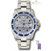 Rolex Submariner White Gold with Sapphires and Diamonds Factory Set - ref 116659SABR